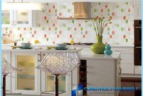 Opzioni per la carta da parati della cucina con le foto