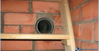Ventilazione nel seminterrato di una casa privata