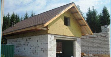 Come costruire un garage di blocchi di schiuma