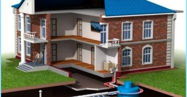 Delle acque reflue in una casa privata