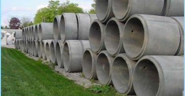 Anelli di cemento armato: le specifiche, le dimensioni, il volume