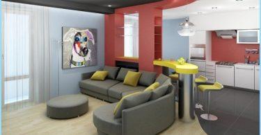 Opzioni per la suddivisione in zone soggiorno e cucina