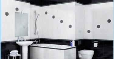 Il design del bagno in bianco e nero