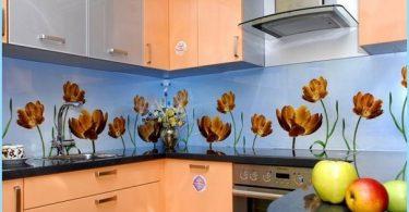 Installazione di vetro in grembiule da cucina