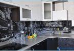 grembiule di vetro per la cucina con le foto